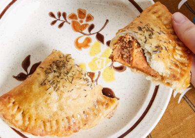 Hyam and Cheddar Handpie | Shoofly Vegan Bakery