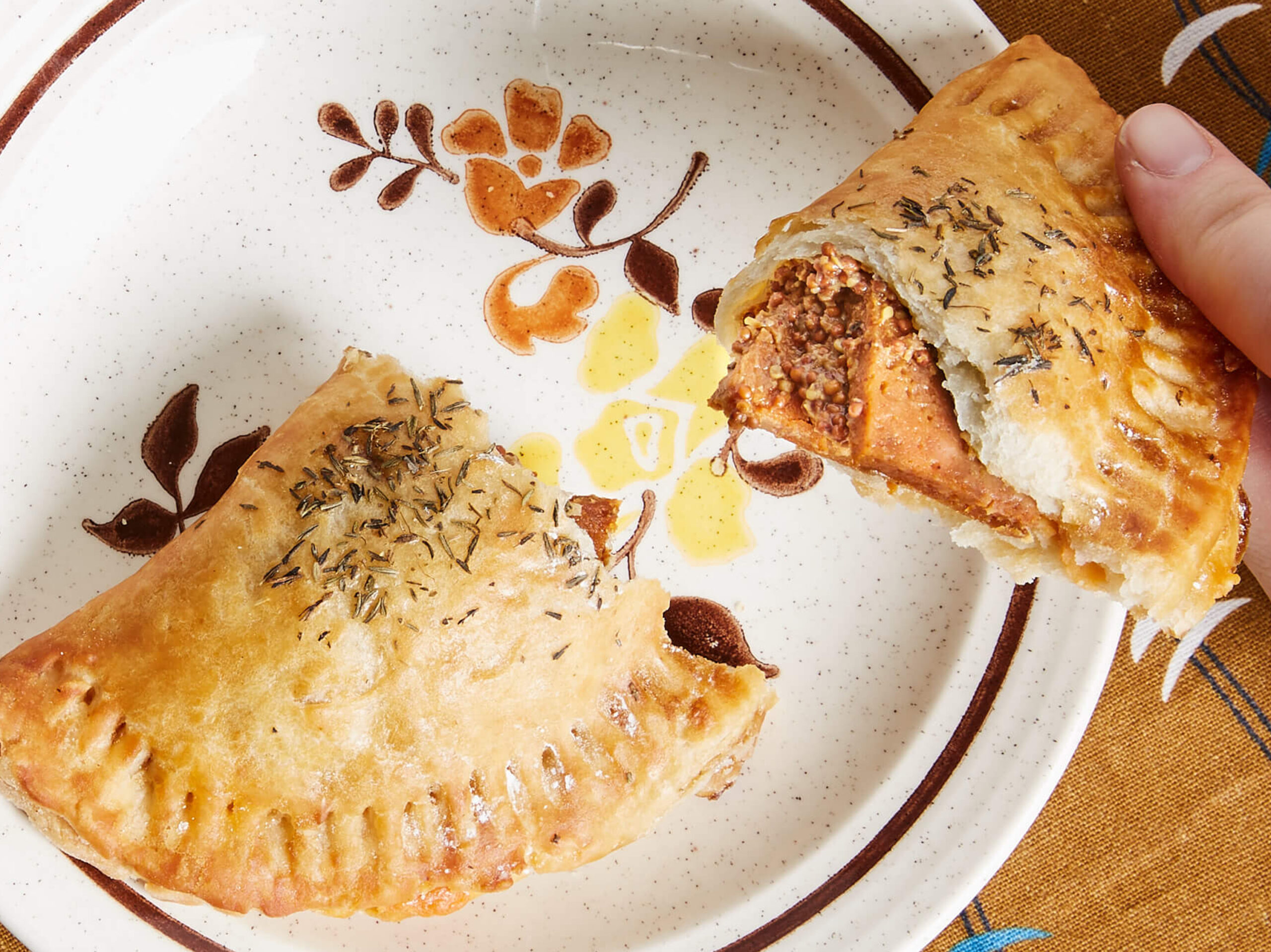 Hyam and Cheddar Handpie | Shoofly Vegan Bakery